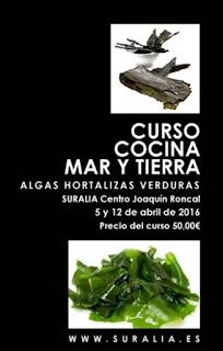 Curso de cocina de algas ecológicas (martes, 5 y 12 de abril)