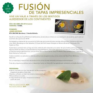 HUESCA. Taller Fusión de tapas impresenciales (lunes, 4)