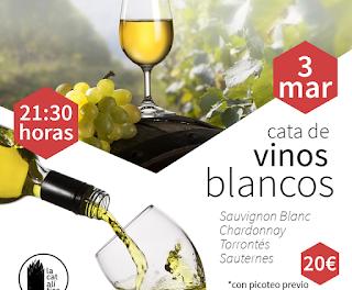 HUESCA. Cata de vinos blancos (jueves, 3)