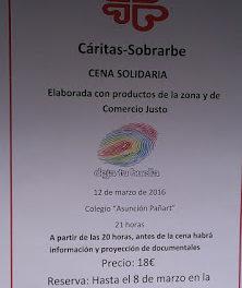 AÍNSA. Cena solidaria para Caritas (sábado, 12)