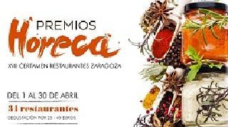 Certamen de restaurantes de Zaragoza, Premios Horeca (del 1 al 30 de abril)