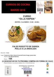 Curso de cocina con olla rápida (martes, 8)