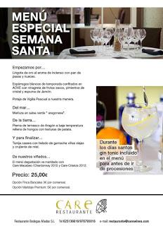 CARIÑENA. Menú de Semana Santa (del 21 al 27)
