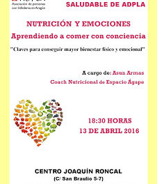 Charla, Nutrición y emociones (miércoles, 13)