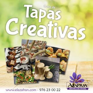 Curso de Tapas creativas en AZAFRÁN (de martes a jueves, del 3 al 5 de mayo)