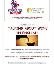 BARBASTRO. Taller de vino en inglés (sábado, 16)
