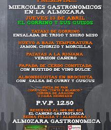 Miércoles gastronómicos en La Almozara (miércoles, 13)