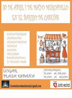 Mercadillo en Casetas (días 30 de abril y 1 de mayo)