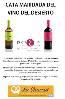 Cata de vino maridada en La Chucrut (miércoles, 20)