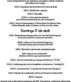 Día internacional de la lucha campesina (sábado y domingo, 16 y 17)