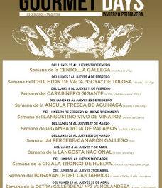 Gourmets Days en LOS CABEZUDOS y TRAGANTÚA con ostra (del lunes, 25, al jueves, 28)