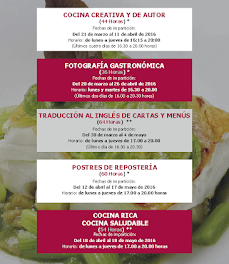 Curso de Postres de Cocina saludable (del 18 de abril al 18 de mayo)