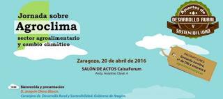 Jornada abierta sobre la adaptación al cambio climático del sistema agroalimentario aragonés (miércoles, 20)