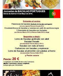 SIÉTAMO. Jornadas de bacalao portugués (del 22 de abril al 15 de mayo)