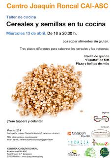 Taller Cereales en tu cocina (miércoles, 13)