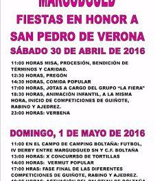 MARGUDGUED. Fiestas, con concurso de tortillas (días 30 y 1 de mayo)