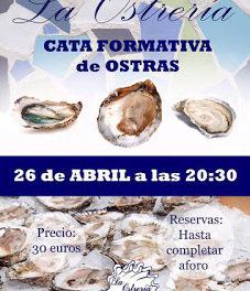 Cata formativa de ostras (martes, 26)