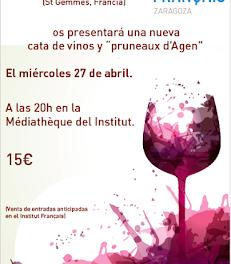 Cata de vino y pruneaux d'Agen (miércoles, 27)