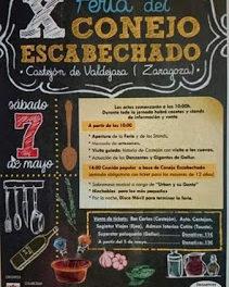 CASTEJÓN DE VALDEJASA. Feria del conejo escabechado (sábado, 7 de mayo)