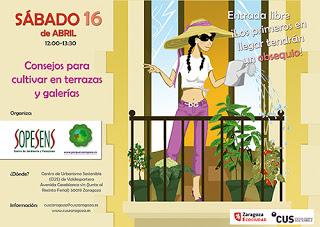 Jornada para cultivar en terrazas y galerías (sábado, 16)