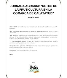 CALATAYUD. Jornada agraria, fruticultura (jueves, 12)