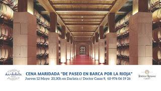 Cena maridada De paseo en barca por La Rioja (jueves, 12)