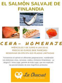 Cena homenaje al salmón salvaje de Finlandia (miércoles, 1)