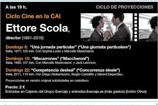 Ciclo de cine de Ettore Scola (domingos, 8, 15 y 22)