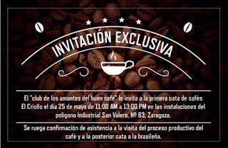 Cata de cafés El Criollo con Slow Food (miércoles, 25)