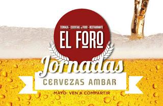 Jornadas con cerveza Ámbar en EL FORO (mayo)
