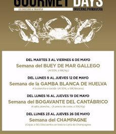 Gourmets Days en LOS CABEZUDOS y TRAGANTÚA con bogavante (del lunes, 16, al jueves, 19)