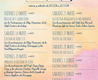Talleres de cocina con Juan Pozuelo (Del 20 de mayo al 4 de junio)