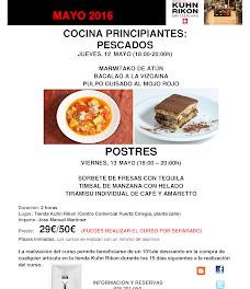 Curso de cocina para principiantes (jueves, 12, y viernes, 13)