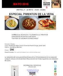 Curso de cocina con pimentón de la Vera (martes, 31 de mayo)