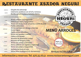 Jornadas del arroz en Neguri (hasta final de junio)