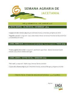 JACETANIA. Semana agraria (del 31 de mayo al 2 de junio)