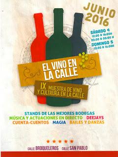 IX Muestra de vino y cultura en la calle (sábado y domingo, 4 y 5 de junio)