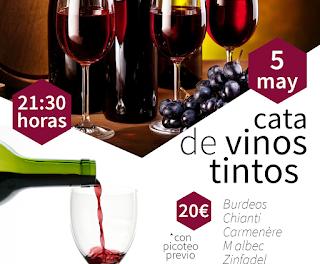 HUESCA. Cata de vinos tintos (jueves, 5)