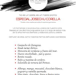 Menú especial Josechu Corella (hasta mediados de junio)