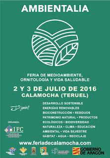CALAMOCHA. Feria de Medio Ambiente, Ornitología y Vida Saludable Ambientalia (sábado, 2, y domingo, 3)