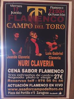 Cena menú flamenco (viernes, 17)
