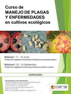 Curso de Manejo de plagas y enfermedades en cultivos ecológicos (del 17 al 19 de junio y del 23 al 25 de septiembre)