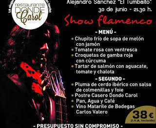 Cena y flamenco (jueves, 30)