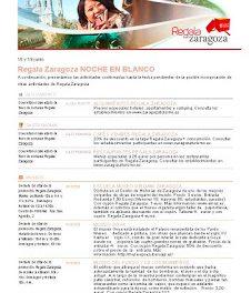 Noche en Blanco, Descuentos en tapas Regala Zaragoza  (18 y 19 de junio)
