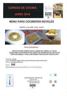 Curso de cocina para noveles (martes, 21)