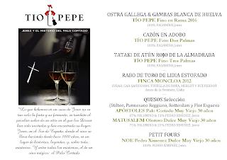 Cata cena maridaje de vinos de Jerez en LOS CABEZUDOS (jueves, 9)
