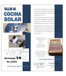 Taller de cocina solar (domingo, 26)