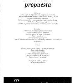 Nuevo menú en Urola (junio)