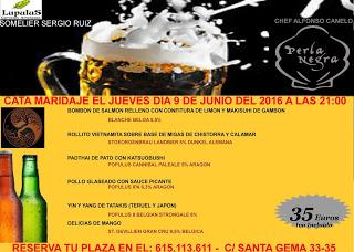 Cata maridaje de cervezas extranjeras y cocina oriental con LUPULUS (jueves, 9)