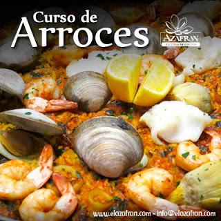 Curso de cocina de arroces en AZAFRÁN (martes, 19)
